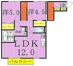 プラシデス B棟[2階]の間取り