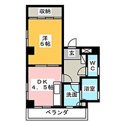 ヴューラ桜山[3階]の間取り