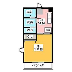 ファーヴル横割[2階]の間取り