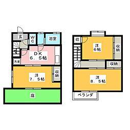 [テラスハウス] 岐阜県羽島市上中町中 の賃貸【/】の間取り