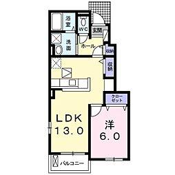 ラ・ドゥサーIV[1階]の間取り