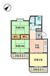 愛知県名古屋市名東区平和が丘4丁目の賃貸マンションの間取り
