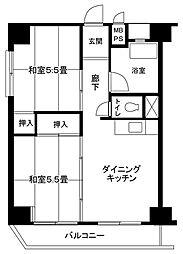 横浜六角橋共同ビル[201号室]の間取り