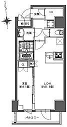 S-RESIDENCE東神田 7階1LDKの間取り