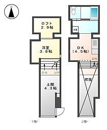 CRETACEOUS PARKI[1階]の間取り