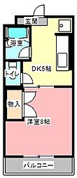 マンション金丸[4階]の間取り