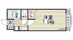 兵庫県神戸市灘区弓木町5丁目の賃貸マンションの間取り