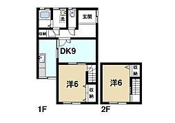 [テラスハウス] 奈良県奈良市学園大和町3丁目 の賃貸【/】の間取り