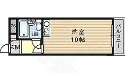 JR東海道・山陽本線 吹田駅 徒歩21分の賃貸マンション 2階ワンルームの間取り