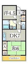 プラザ天王台[2階]の間取り
