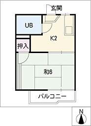 コーポ水野[2階]の間取り