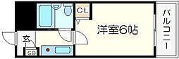 ホーユーコンフォルト都島[7階]の間取り
