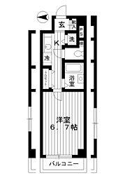 東京都練馬区南田中3丁目の賃貸マンションの間取り