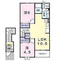 メゾン葵西II[2階]の間取り