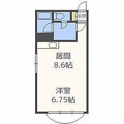 現代ハイツパートII[4階]の間取り