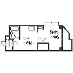 OMレジデンス円山[3階]の間取り