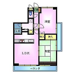 エスポワール大島[701号室]の間取り