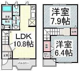 [テラスハウス] 長野県長野市大字北尾張部 の賃貸【/】の間取り