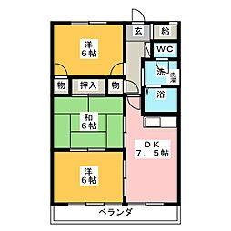 リバティーフォレスト[4階]の間取り