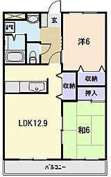 三重県多気郡明和町有爾中の賃貸アパートの間取り