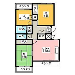 ビブレ高崎[1階]の間取り