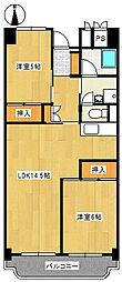 ビレッジハウス岐阜タワー[4階]の間取り