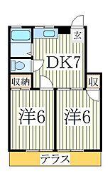 萩沢ハイツA[1階]の間取り