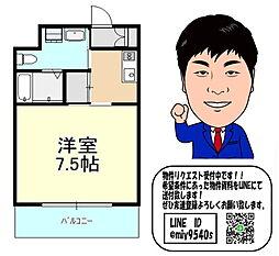 おおさか東線 野江 徒歩8分 9階1Kの間取り