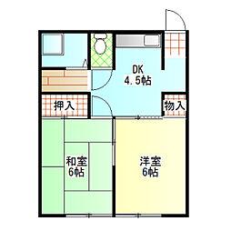 第一小峰荘[10号室]の間取り