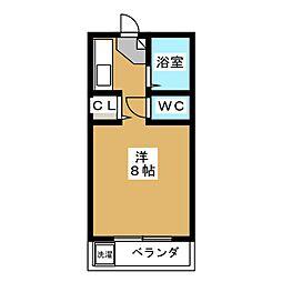 シャンポール明日香[3階]の間取り
