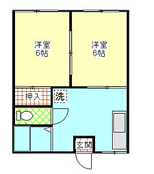 鹿島ハイツC[102/201号室]の間取り