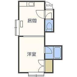 第22森宅建マンション[3階]の間取り