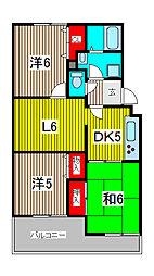 ヴァンベール富士美[2階]の間取り