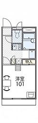 レオパレスObuRyusei[2階]の間取り