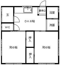 [一戸建] 静岡県浜松市東区大蒲町 の賃貸【/】の間取り
