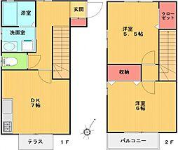 [テラスハウス] 神奈川県横浜市青葉区青葉台1丁目 の賃貸【/】の間取り