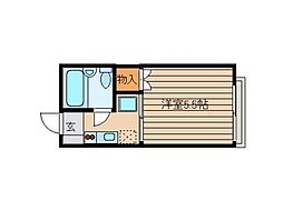 東京都品川区南品川 の賃貸アパートの間取り