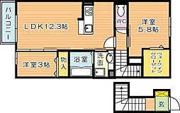 セジュール原町VI[2階]の間取り