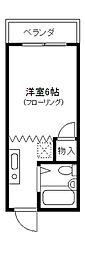 立川プラザー[302号室]の間取り