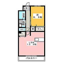 ル・ラパン[2階]の間取り