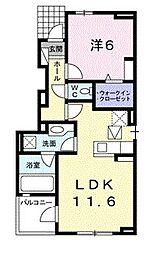 ハクサンジョ III[101号室]の間取り