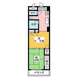エンブレム元浜[4階]の間取り