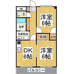 アメニティーシャトー並柳[3階]の間取り