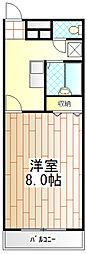 東京都町田市本町田の賃貸アパートの間取り