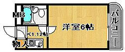 ラフォーレ助松[4B号室]の間取り