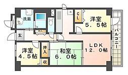 エーデルハイム園田[5階]の間取り