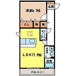 Casa del girasole[3階]の間取り
