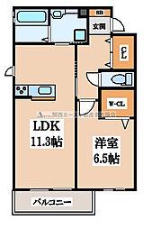 (仮称)D-room吉田[1階]の間取り