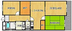 ラ・クール堺[3階]の間取り
