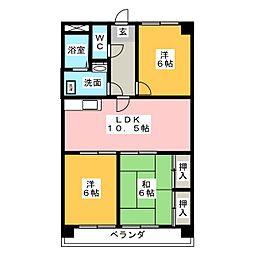 グリーンヒルズ浅井[2階]の間取り